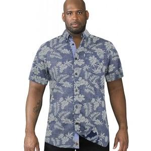 D555 Kingsize Oswald S/S Shirt Navy