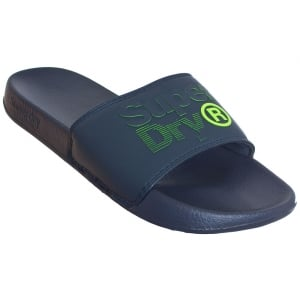 Superdry Lineman Pool Slide Navy/Navy