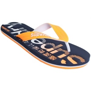 Superdry Scuba Faded Flip Flops Navy/Orange