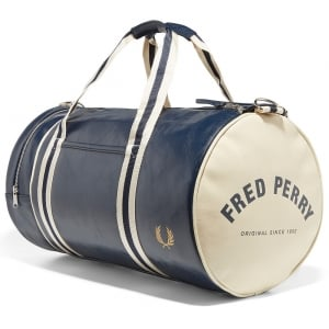 Fred Perry L3330 Classic Barrel Bag Navy/Ecru