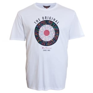 Ben Sherman Kingsize Text Target T-Shirt White