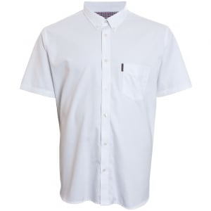 Ben Sherman Kingsize Oxford S/S Shirt White