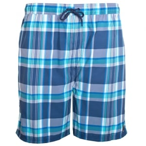 Espionage Kingsize SW061 Check Swimshorts Blue