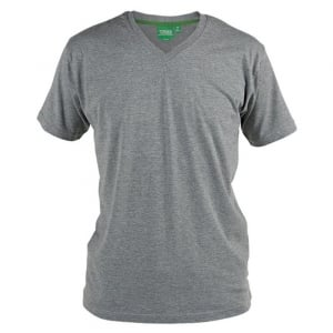 D555 Kingsize Signature V-Neck T-Shirt Grey Melange