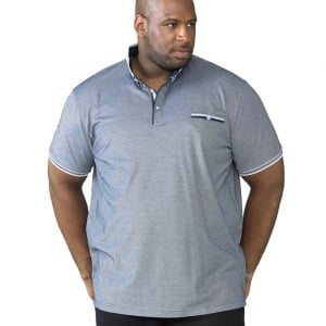 D555 Kingsize Journey Polo Navy Marl