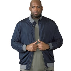 D555 Kingsize Felix Lightweight Bomber Jacket Navy