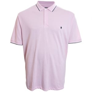 French Connection Kingsize 56JQA Twin Tipped Polo Pink Marl