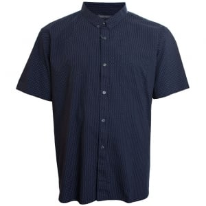 French Connection Kingsize 52JLP Micro Dot S/S Shirt Blue/White