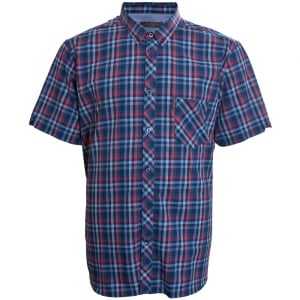 Ben Sherman Kingsize Text Check S/S Shirt Moonlight Blue