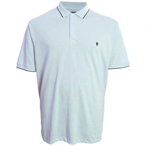 French Connection Kingsize 56JQA Twin Tipped Polo Sky Melange