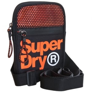 Superdry Lineman Sport Pouch Black/Orange