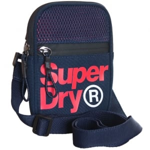 Superdry Lineman Sport Pouch Navy/Red
