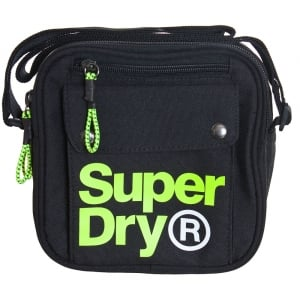 Superdry Lineman Utility Bag Black/Acid