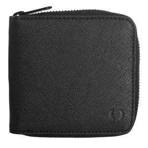 Fred Perry L3210 Saffiano Zip Wallet Black