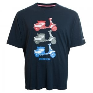 Lambretta Kingsize Scooter T-Shirt Navy