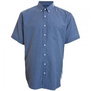 Espionage Kingsize SH258 Chambray S/S Shirt Blue