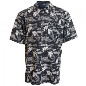 Espionage Kingsize SH259 Hawaiian S/S Shirt Black