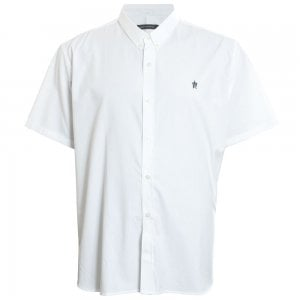 French Connection Kingsize 52JLI Oxford S/S Shirt White