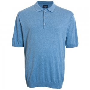 Espionage Kingsize KW052 Knitted Polo Blue Marl