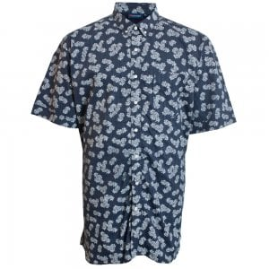 Espionage Kingsize SH256 Pineapple S/S Shirt Navy