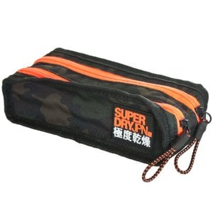 Superdry Freshman Pencil Case Green Camo