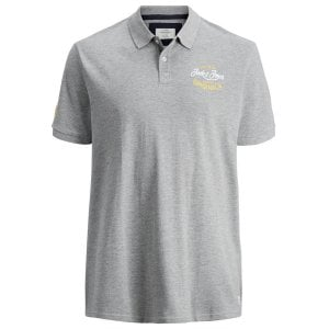 Jack & Jones Plus Size Originals Fara Polo Grey Melange