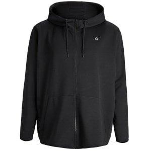 Jack & Jones Plus Size Core Nordic Zip Hoodie Black
