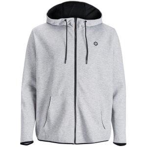Jack & Jones Plus Size Core Nordic Zip Hoodie Light Grey Melange