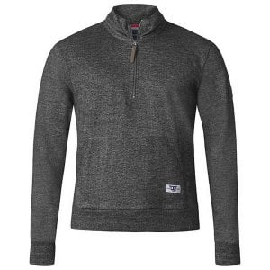 D555 Kingsize Robby Half Zip Sweatshirt Charcoal Marl