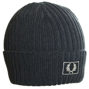 Fred Perry C2100 2 Tone Cotton Beanie Black