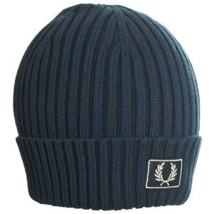 Fred Perry 2 Tone Cotton Beanie Navy