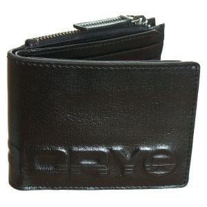 Superdry Profile Leather Wallet In Tin Black