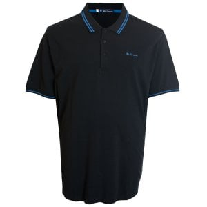 Ben Sherman Kingsize 48520 Twin Tipped Polo Black