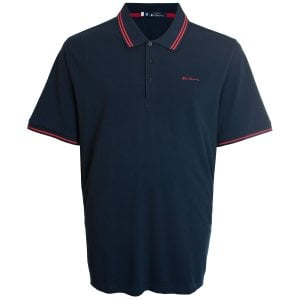 Ben Sherman Kingsize 48520 Twin Tipped Polo Navy