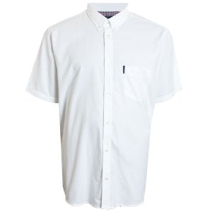 Ben Sherman Kingsize 48580 Oxford S/S Shirt White