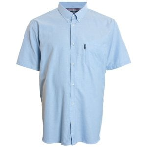 Ben Sherman Kingsize 48580 Oxford S/S Shirt Dusk Blue