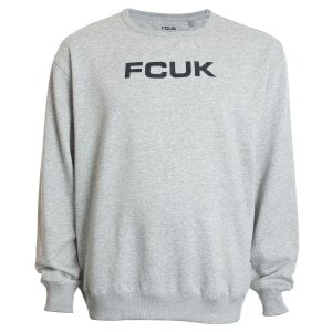 French Connection Kingsize 57KCY Crew Sweatshirt Light Grey Melange