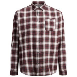 Jack & Jones Plus Size Originals Benjamin Checked L/S Shirt Fiery Red