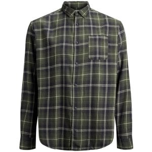 Jack & Jones Plus Size Originals Benjamin Checked L/S Shirt Forest Night