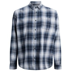 Jack & Jones Plus Size Originals Benjamin Checked L/S Shirt Total Eclipse