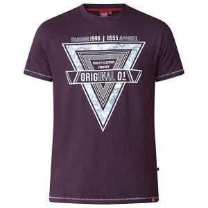 D555 Kingsize Gary T-Shirt Dark Plum
