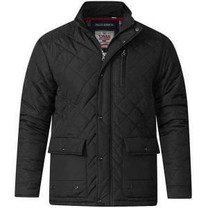D555 Kingsize Justin Quilted Jacket Black