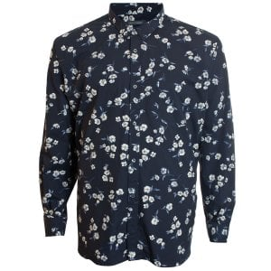 French Connection Kingsize 52KFQ Floral L/S Shirt Black