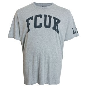 French Connection Kingsize 56KHX FCUK T-Shirt Light Grey Marl