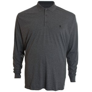 French Connection Kingsize 56KIM Basic L/S Polo Charcoal Marl