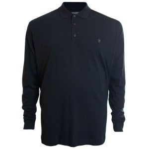 French Connection Kingsize 56KIM Basic L/S Polo Marine
