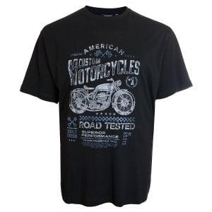 Espionage Kingsize T259 Custom Motorcycles T-Shirt Black