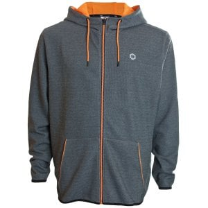 Jack & Jones Plus Size Core Nordic Zip Hoodie Dark Grey