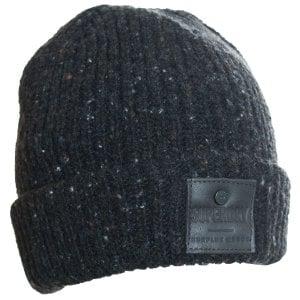 Superdry Surplus Goods Tweed Beanie Dark Charcoal