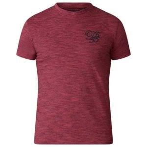 D555 Kingsize Chalmer T-Shirt Red Space Dye